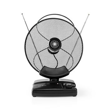 Indoor HDTV Antenna | 0 - 25 km | Gain 30 - 36 dB | FM/VHF/UHF | Black