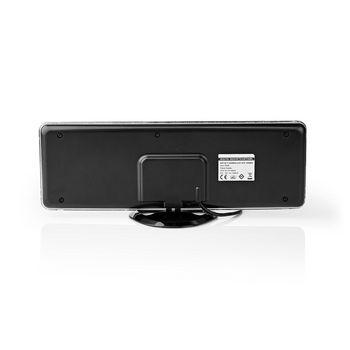 Indoor HDTV Antenna | 0 - 25 km | Gain 28 dB | FM / VHF / UHF | Grey
