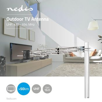 Outdoor TV Antenna | LTE 700 | Max. 12 dB Gain | UHF: 470 - 694 MHz | 1 Component