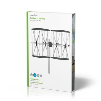 Outdoor TV Antenna | LTE 700 | Max. 14 dB Gain | UHF: 470 - 694 MHz | 4 Components