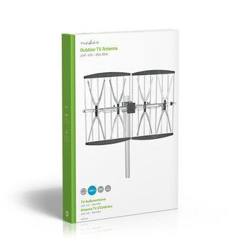 TV-Antenne voor Buiten | Max. 14 dB Versterking | UHF: 470 - 694 MHz | 4 Componenten