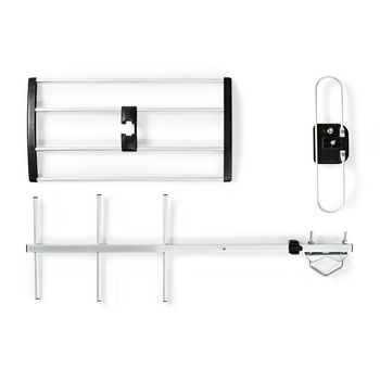 Outdoor TV Antenna | LTE 700 | Max. 9 dB Gain | UHF: 470 - 694 MHz | 5 Components