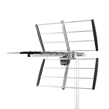 Outdoor TV Antenna | LTE 700 | Max. 11 dB Gain | UHF: 470 - 694 MHz | 7 Components