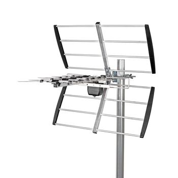 Outdoor TV Antenna | LTE 700 | Max. 12 dB Gain | UHF: 470 - 694 MHz | 8 Components