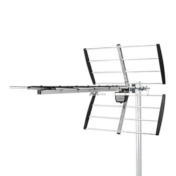 Outdoor TV Antenna | LTE 700 | Max. 12 dB Gain | UHF: 470 - 694 MHz | 10 Components