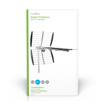 Outdoor TV Antenna | LTE 700 | Max. 14 dB Gain | UHF: 470 - 694 MHz | 15 Components