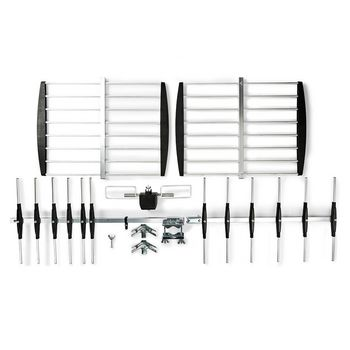 Antenna TV da Esterni | Guadagno Max. 14 dB | UHF: 470 - 694 Mhz | 15 Componenti