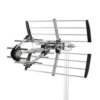TV-Außenantenne | Max. 14 dB Verstärkung | UHF: 470 - 694 MHz | 15 Komponenten