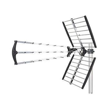 Antenne TV d'extérieur | Gain max. de 18 dB | UHF : 470 - 698 MHz | Portée de 50 km