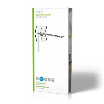 Outdoor TV Antenna | Max. 13 dB Gain | UHF: 470 - 790 MHz