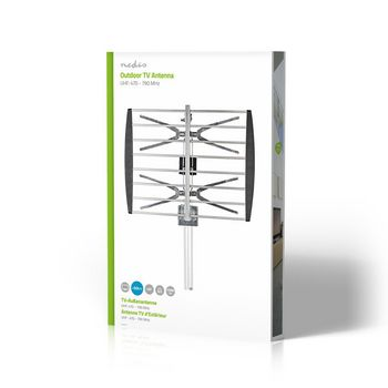 Outdoor TV Antenna   Max. 8 dB Gain   UHF: 470 - 790 MHz