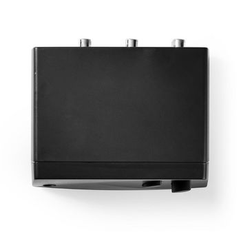 Switch Audio Analogico | 2 Ingressi Stereo RCA | 1 Uscita Stereo RCA + Uscita Cuffie | Nero