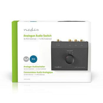 Switch Audio Analogico | 3x (2x Femmina RCA) - 2x Femmina RCA | Nero
