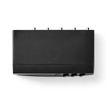 Switch Audio Analogico | 4x (2x Femmina Stereo RCA) - 1x Femmina Stereo RCA + Uscita Femmina Cuffie | Nero