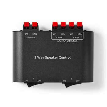 Speaker Control Box | 2-Way | Terminal Clamp | Black