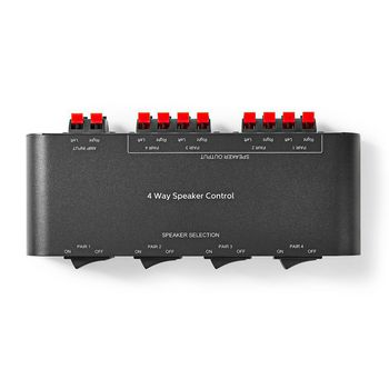 Speaker Control Box | 4-Way | Terminal Clamp | Black