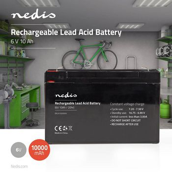 Rechargeable Lead-Acid Battery 6V | 10000 mAh | 151 x 50 x 95 mm