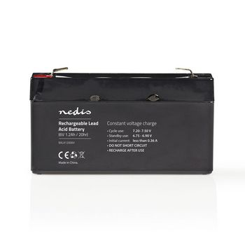 Rechargeable Lead-Acid Battery 6V | 1200 mAh | 97 x 24 x 52 mm