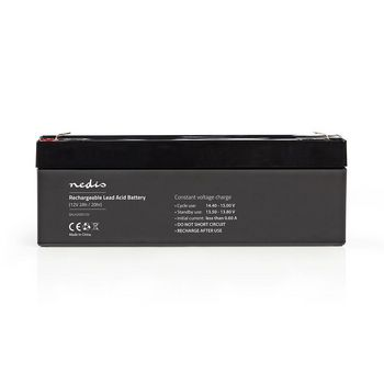 Rechargeable Lead-Acid Battery 12V | 2000 mAh | 178 x 34 x 66 mm