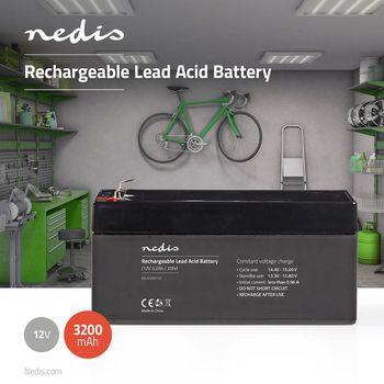 Rechargeable Lead-Acid Battery 12V | 3200 mAh | 134 x 67 x 61 mm