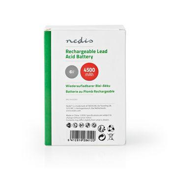Rechargeable Lead-Acid Battery 6V | 4500 mAh | 70 x 47 x 101 mm