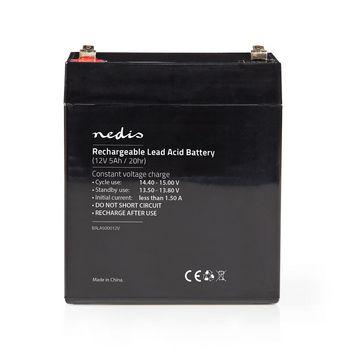 Rechargeable Lead-Acid Battery 12V | 5000 mAh | 101 x 90 x 70 mm