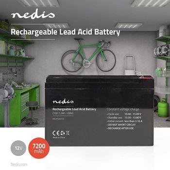 Rechargeable Lead-Acid Battery 12V   7200 mAh   151 x 65 x 95 mm