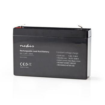 Rechargeable Lead-Acid Battery 6V | 7200 mAh | 151 x 34 x 95 mm