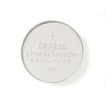 Lithium Button Cell Battery CR2430 | 3 V | 5 pieces | Blister
