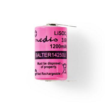 Lithium Thionyl Chloride Battery ER14250 | 3.6 V | 1200 mAh