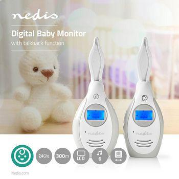 Audio Baby Monitor | 2.4 GHz | Talkback Function | LCD Display