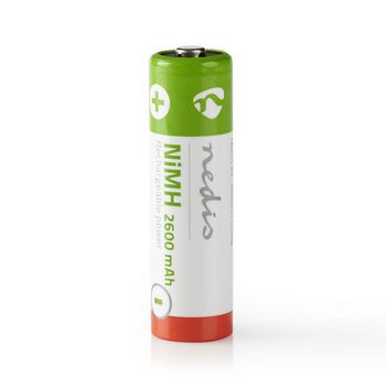 Rechargeable Ni-MH Battery AA | 1.2 V | 2600 mAh | 4 pieces | Blister