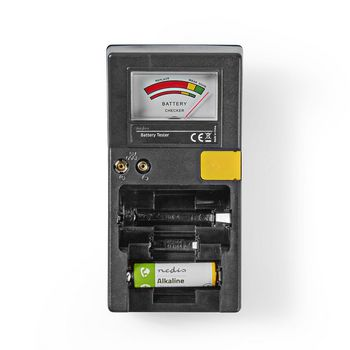 Battery tester | AAA, AA, C, D, 9 V, Button Cell