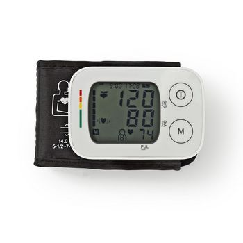 Wrist Blood Pressure Monitor | LCD | Time & Date | 4 x 30 Memory Storage