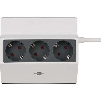 Clampable extension socket 3-way 3m H05VV-F 3G1.5 white/anthracite