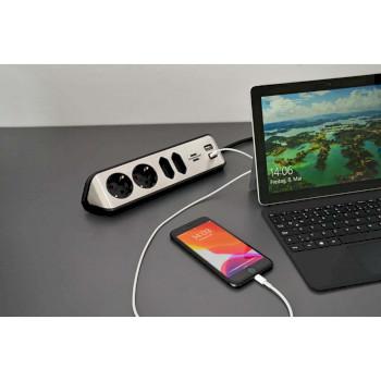 Regleta de mesa con USB |