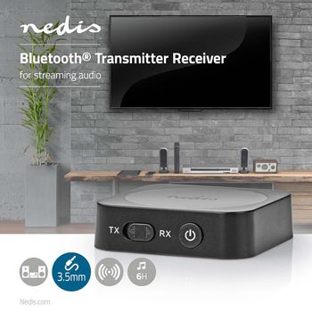 Wireless Audio Transmitter Receiver | Bluetooth® | 3.5 mm output | Black
