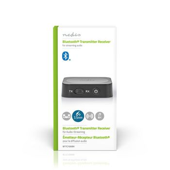 Draadloze Audiozender/-ontvanger | Bluetooth® | 3,5 mm Uitgang | Zwart