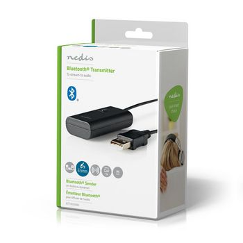 Bluetooth® Transmitter | Connection input: 1x AUX / 1x USB | SBC | Up to 1 Device | Black