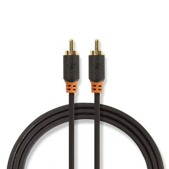 Digital Audio Cable | RCA Male - RCA Male | 2.0 m | Anthracite