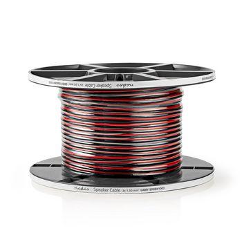 Høyttalerkabel | 2 stk. 1.50 mm2 | 100 m | Vinde | Svart/Rød