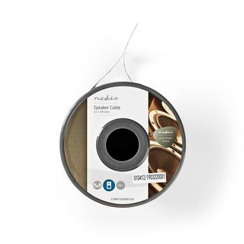 Speaker Cable | 2x 1.50 mm2 | 15.0 m | Reel | Black/Red