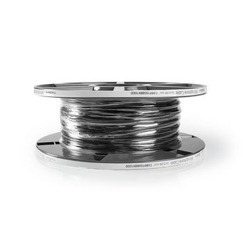 Microphone Cable | 2x 0.08 mm2 | 100 m | Reel | Black