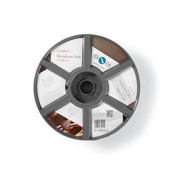 Mikrofonkabel | 2x 0,08 mm² | 100 m | Rolle | Schwarz