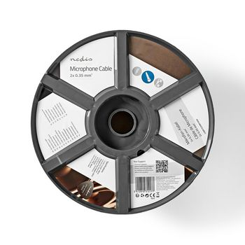 Mikrofonkabel | 2x 0,35 mm² | 100 m | Rolle | Schwarz