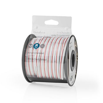 Speaker Cable | 2x 2.50 mm2 | 15.0 m | Reel | White