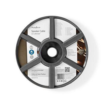 Speaker-Kabel | 2x 4,00 mm2 | 15,0 m | Op Rol | Transparant
