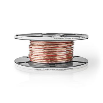 Speaker Cable | 2x 6.00 mm2 | 15.0 m | Reel | Transparent