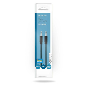 Stereo Audio Cable | 3.5 mm Male - 3.5 mm Male | 1.0 m | Black