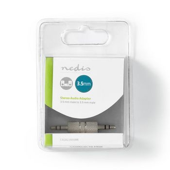 Stereo Audio Adapter | 3.5 mm Male - 3.5 mm Male | 1 Pc | Metal